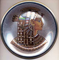 Cleopatra - Egyptian Brass  Plate