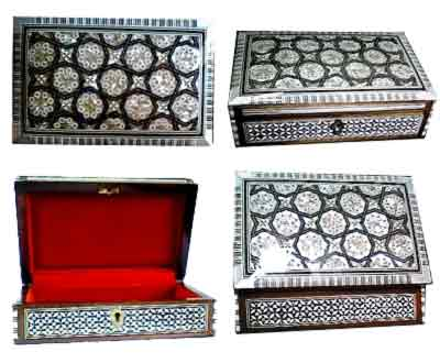 "Rectangular jewelry box "" mother of Pearl Box """