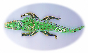 Egyptian hand made Pyrex Glass Crocodile, Alligator (Perfume Bottle)4