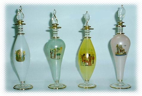 Egyptian Perfume Bottles - Glass Bottles - NPBT models