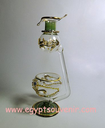 Egyptian Handmade Pyrex Glass mouth blown aromatherapy diffuser model 25