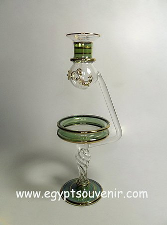 Egyptian Handmade Pyrex Glass mouth blown aromatherapy diffuser model 24
