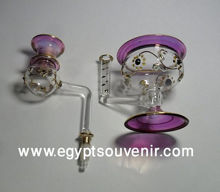 Egyptian Handmade Pyrex Glass mouth blown aromatherapy diffuser model 23