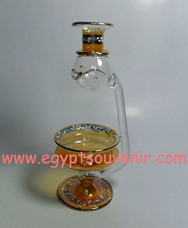 Egyptian Handmade Pyrex Glass mouth blown aromatherapy diffuser model 12