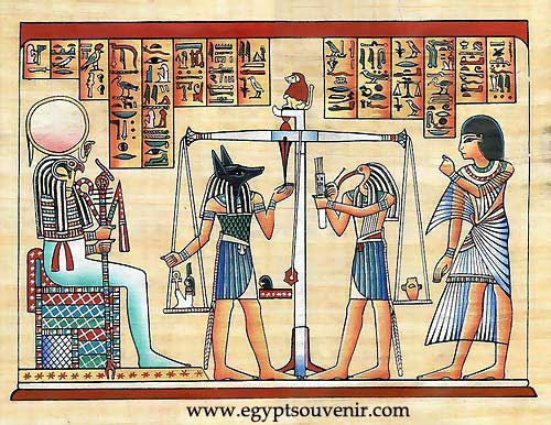 Egypt papyrus paintings - The Judgment papyrus