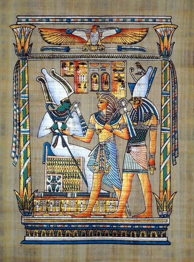 Egyptian Papyrus Painting The Tribute 2