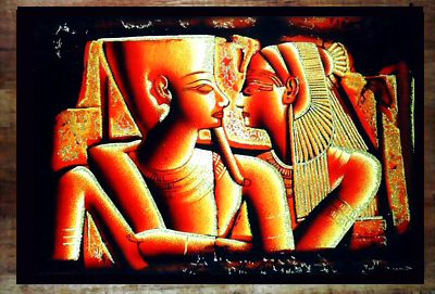 The 2 Lovers Papyrus Painting