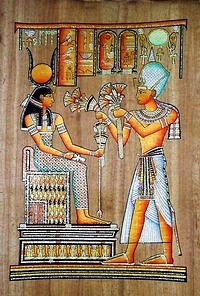 Egyptian papyrus paintings, Ancient Egypt Tomb Scenes (no: 47)