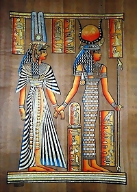 Egyptian papyrus paintings, Ancient Egypt Tomb Scenes (no: 46)