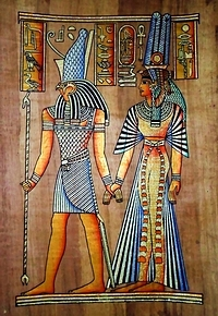 Egyptian papyrus paintings, Ancient Egypt Tomb Scenes (no: 48)