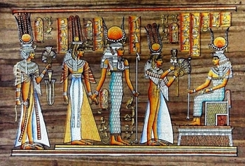 Egyptian papyrus paintings, Ancient Egypt Tomb Scenes (no: 41)