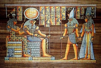 Egyptian papyrus paintings, Ancient Egypt Tomb Scenes (no: 42)
