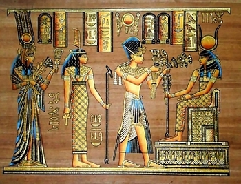 Egyptian papyrus paintings, Ancient Egypt Tomb Scenes (no: 43)