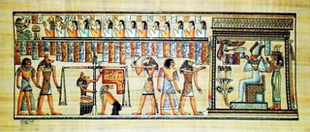 Egyptian papyrus paintings, Ancient Egypt Tomb Scenes (no: 30)