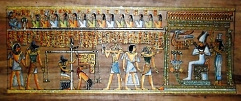 Egyptian papyrus paintings, Ancient Egypt Tomb Scenes (no: 31)