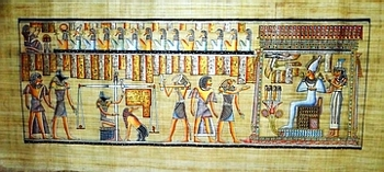 Egyptian papyrus paintings, Ancient Egypt Tomb Scenes (no: 34)