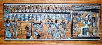 Egyptian papyrus paintings, Ancient Egypt Tomb Scenes (no: 35)