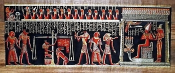 Egyptian papyrus paintings, Ancient Egypt Tomb Scenes (no: 36)