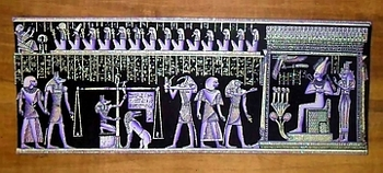 Egyptian papyrus paintings, Ancient Egypt Tomb Scenes (no: 32)