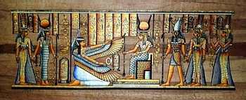 Egyptian papyrus paintings, Ancient Egypt Tomb Scenes (no: 38)