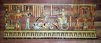 Egyptian papyrus paintings, Ancient Egypt Tomb Scenes (no: 39)