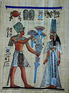 Gifts to Nefertari Papyrus Painting