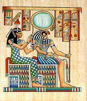 Ra-horakhty papyrus - Egyptian hand made papyrus paintings