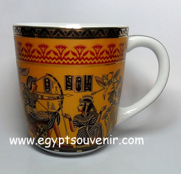 Egyptian Porcelain Mug  PORM25