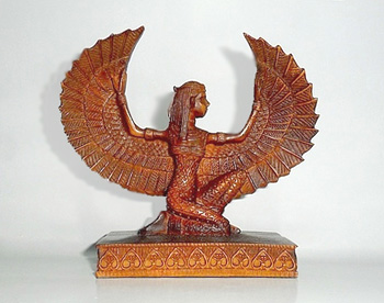 Ancient Egypt Goddess Isis, Winged Isis Statue.