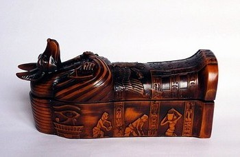 Ancient Egypt God Anubis, Coffin Sarcophagus (X Larg)
