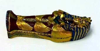"King "" tut ankh amen "" colored stone coffin 2 - Egyptian gifts, souvenirs"