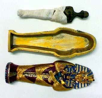 "King "" tut ankh amen "" colored stone coffin 5 - Egyptian gifts, souvenirs"