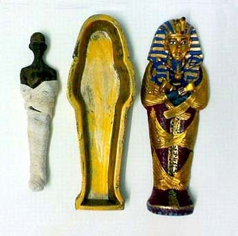 "King "" tut ankh amen "" colored stone coffin 6 - Egyptian gifts, souvenirs"