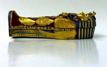 "King "" tut ankh amen "" colored stone coffin 1 - Egyptian gifts, souvenirs"